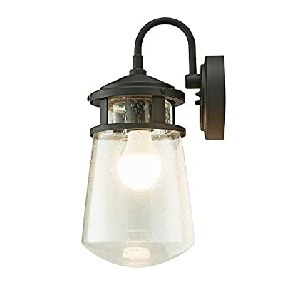 Home Luminaire 31676 Montana 1-Light Nautical Outdoor Wall Lantern with Raindrop Glass Black