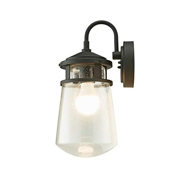 "Home Luminaire 31676 Montana Outdoor Wall Lantern, Black - Add some seaside flair to your outdoor space Use it to light up your front porch, back deck, or even your driveway Package dimensions: 9.05"" L x 9.05"" W x 19.68"" H - patio, outdoor-lights, outdoor-decor - 31cUVxydAkL. SS570  -"