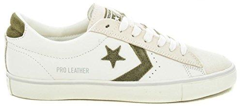 Converse 160927C Weiß Grün Weiß Mann Leder Schnürsenkel Schuhe White