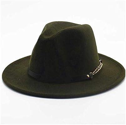b399c90a1 TONGDAUAE 2019 Top Hat Jazz Fedora Hat Wool Felt Leather Rope Metal ...
