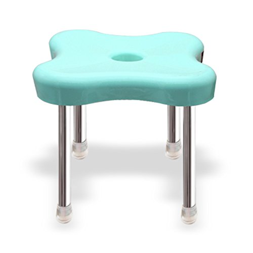 Dana Carrie To remove stool thick Adult Plastic small benches stainless steel and the bathrooms are implemented in other shoe is stylish and simple stools 3PCS, Light Pink