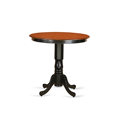 JAT-BLK-TP Counter height Table in black and Cherry