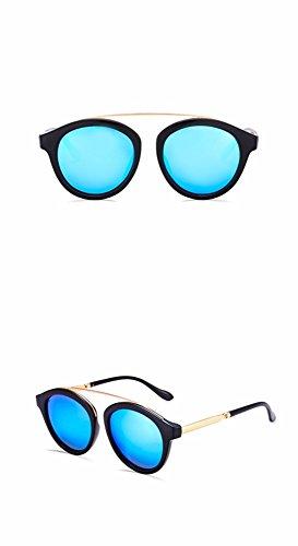 la azul retro cool de de gafas El nariz XIAOGEGE brillo azul sol Gafas color brillo de alto solo chica sol alto de PH08Hwq