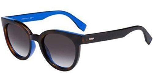 Fendi COLOR FLASH FF 0150/S TLG/9O havana blue/dark grey Sunglasses