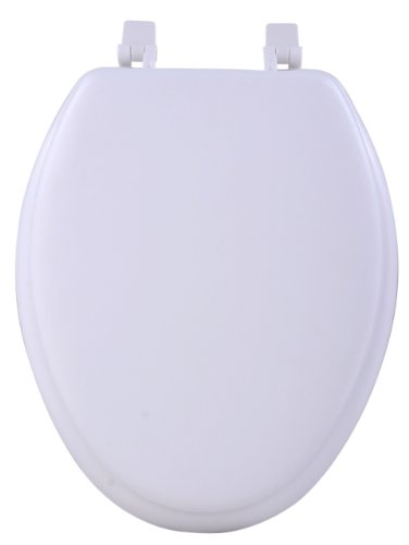 - Achim Home Furnishings TOVYELWH04 19-Inch Fantasia Elongated Toilet Seat, Soft White
