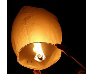 10 Sky Lanterns - White (Floating Paper Lanterns)