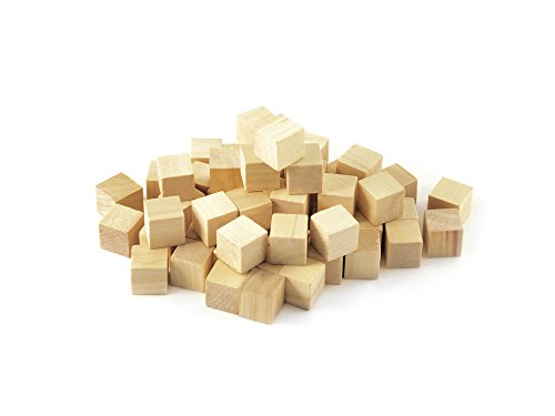 "Multicraft Imports Craftwood 5/8"" Wooden Cubes 36/Pkg-Natural"