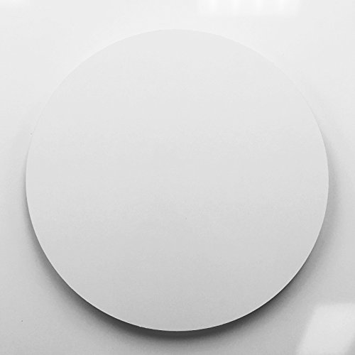 - 11.75 Inch Dia White Aluminum Circle Metal Sign Blanks - No Holes