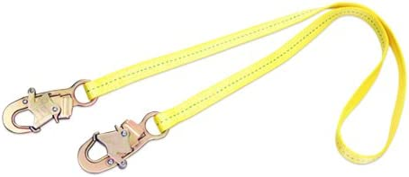 3M DBI-SALA 1231104 Web Restrain Lanyard, 4-Foot Single-Leg With Snap Hooks At Each End, Yellow by 3M Fall Protection Business
