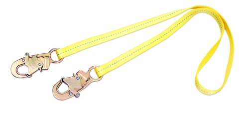 3M DBI-SALA 1231106 Web Positioning Lanyard, 6', 3/4'' Snap Hooks, Yellow by 3M Fall Protection Business (Image #1)