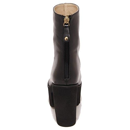 Donna Tronchetto Box Whitout Palomitas Nero Shoe Woman Boot 2163p Stivale RqZEAw