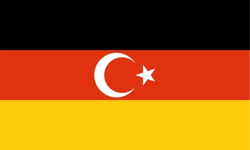 carsticker flag decal sticker colors in two sizes German - Turkish laminated very long durable