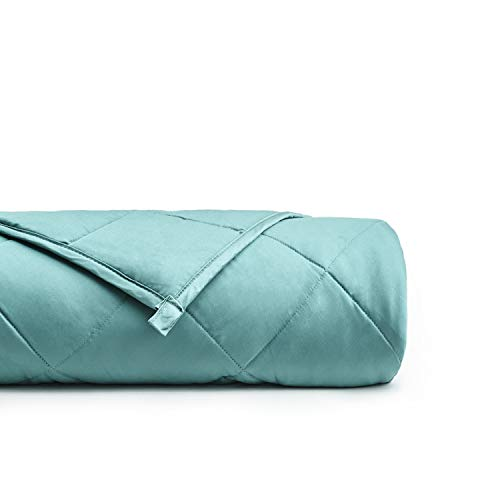 YnM Bamboo Weighted Blanket with 100% Pure Natural Bamboo Viscose | 15 lbs for 90-150 lbs Individual, 48