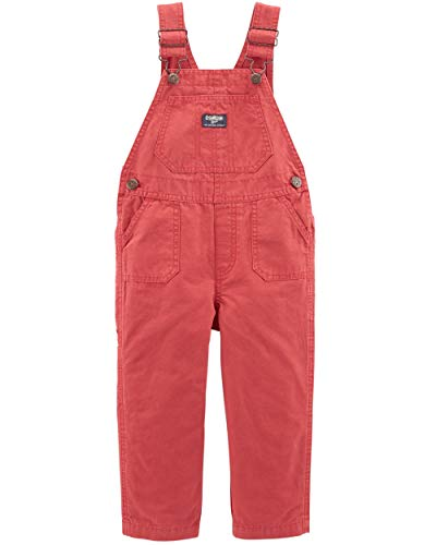 Osh Kosh Baby Boys' Toddler World's Best Overalls, Red, 4T