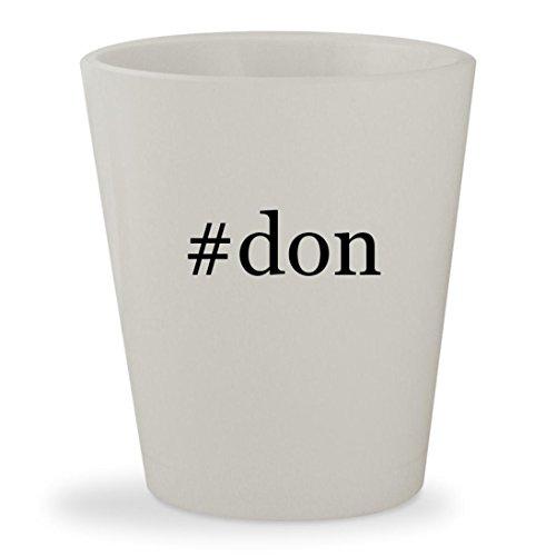 #don - White Hashtag Ceramic 1.5oz Shot - Draper Glasses Don