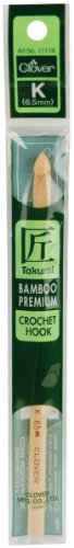Clover Takumi Bamboo 6-1/2-mm Crochet Hooks, Size K