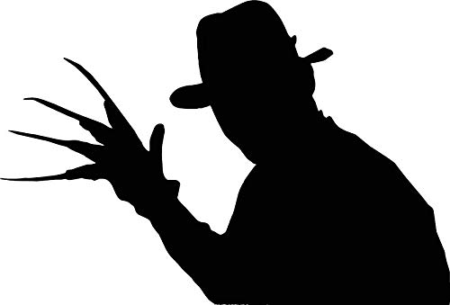 Wall Decal Halloween XL Freddy Krueger Inspired Killer Claw Glove Scary Movie Decal Decor Sticker Vinyl