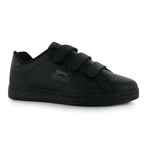Slazenger Zapatillas para Niños, con Velcro, para Tiempo Libre Negro - negro, gris oscuro