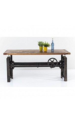 kare design adjustable dining table 160 cm wood and steel steamboat rh amazon co uk adjustable kitchen table height adjustable kitchen table legs
