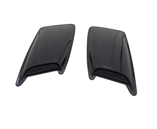 Auto Ventshade 80001 Large 2-Piece Hood Scoop with Smooth Black Finish