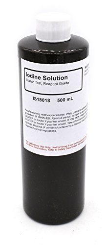 Reagent-Grade Iodine Solution, 500mL - The Curated Chemical Collection