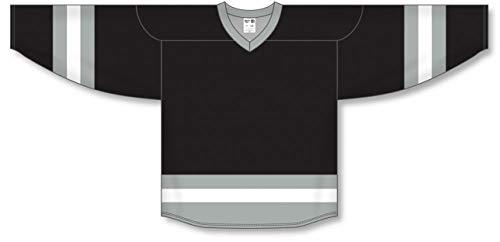 (Customization Depot Black, Grey, White League Plain Blank Hockey Jerseys)