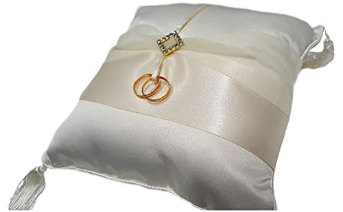 - Ivory Diamonds Ring Bearer Pillow