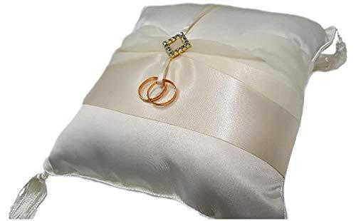 Ivory Diamonds Ring Bearer Pillow (Ring Pillow Diamond)