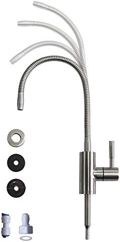 Drinking Water FaucetFlexible Gooseneck - 360 Degree Rotatable Sink Faucet Drinking Water Purifier Faucet Cold Water Faucet Single Handle - Brushed Stainless Steel