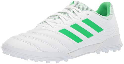 adidas Men's Copa 19.3 Turf Soccer Shoe, White/Solar Lime/White, 9 M US