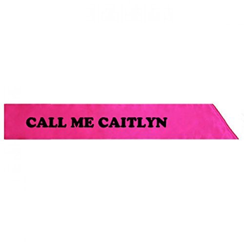 [Caitlyn Jenner Costume: Adult Satin Party Sash] (Caitlyn Costumes)