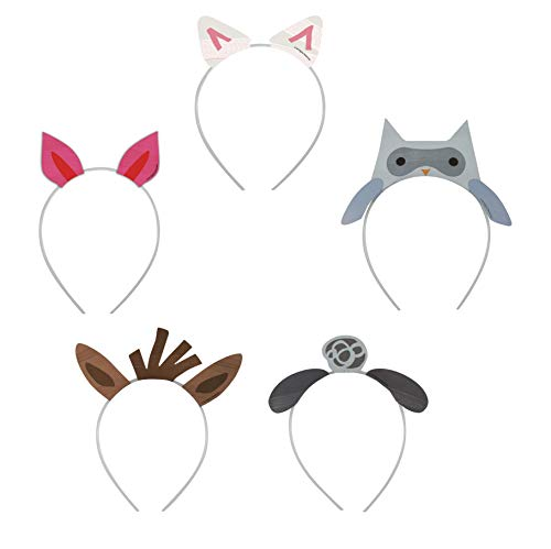 Fun Express Assorted Farm Party Headbands | 6 Count | Great for Halloween Costume Party, Christmas Holiday Play, Party Favor, Photo Booth Props ()