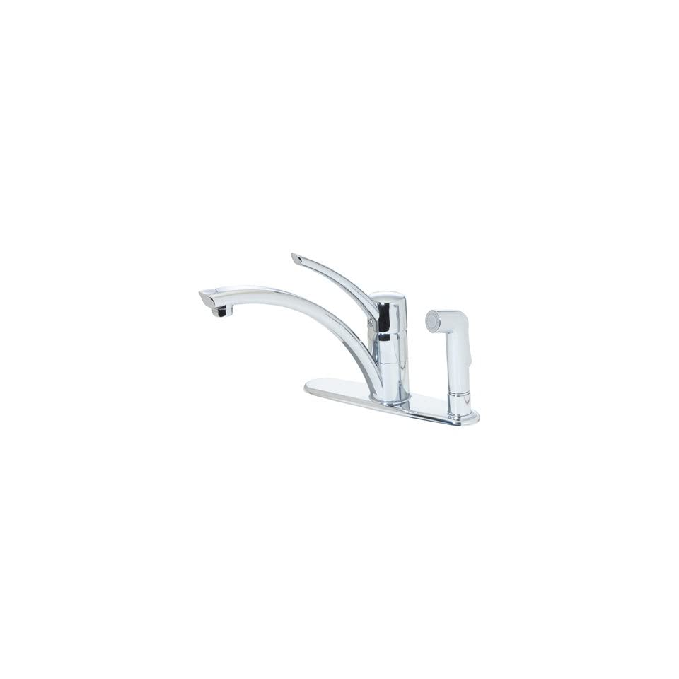 Price Pfister Parisa Chrome Parallel Arc 1 Handle Kitchen Faucet w/Spray