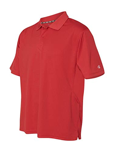 Champion Men's Double Dry Performance Polo, Scarlet, X-Large ()