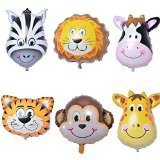 sorry to -JUNGLE ANIMALS BALLOONS birthday party decorations lion tiger monkey zebra