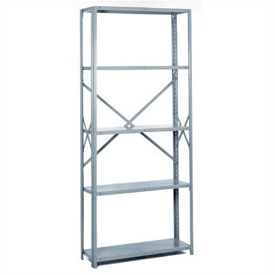 Lyon PP8741M Commercial Stand Alone Open Offset Angle Shelving with (Open Offset Angle Shelving)