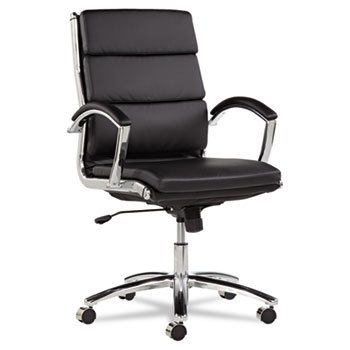 neratoli-series-mid-back-swivel-tilt-chair-black-soft-leather-chrome-frame