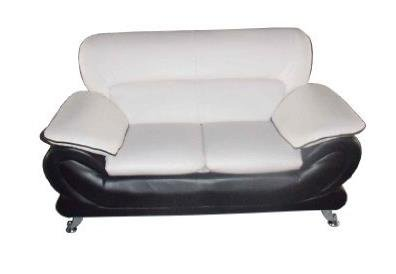 Orel Loveseat With Black And White Bonded Leather by Acme Furniture