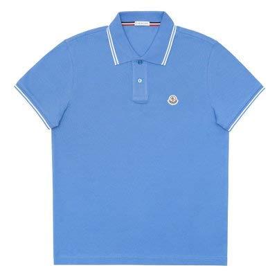 [モンクレール] ポロシャツ メンズ 半袖 胸ロゴ ライトブルー MAGLIA POLO MANICA CORTA 8304399 84556 708 Sサイズ 鹿の子 ゴルフ [並行輸入品]   B07T3Y9VBM