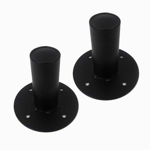 (Seismic Audio - Pair of Metal PA/DJ Tripod Speaker Stand Mounts New Adapters - Top Hat Style)