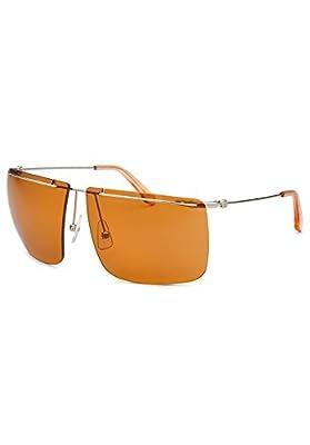 Calvin Klein CK2133S-286-62 Men's Rimless Orange Sunglasses