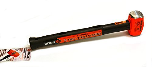 Groz 34505 16'' Indestructible Striking Hammer, 2.5 lb, Steel