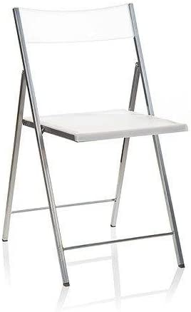 Eurosilla Slim - Silla Plegable para Salón, Blanco, 77 x 43 x 45 ...