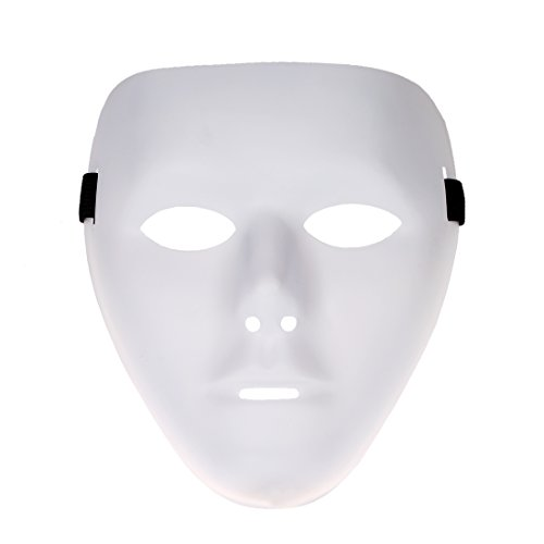 [YUFENG Hiphop Mask Cosplay Costume Party Mask (white1)] (Ghana Costume For Boys)