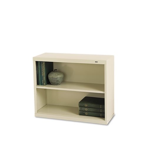 Tennsco B30PY 34-1/2 by 13-1/2 by 28-Inch Metal Bookcase with 2 Shelves, Putty