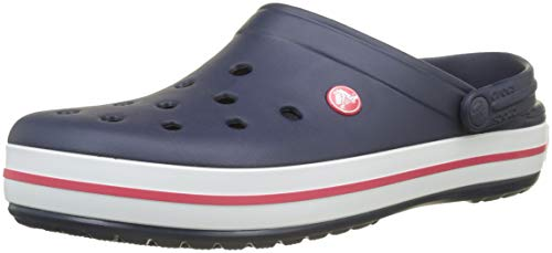 Crocs Unisex Crocband Clog, Black, 8 US Men / 10 US Women