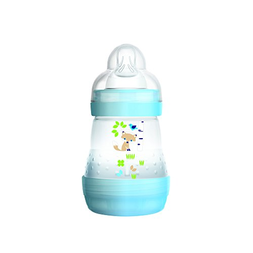 MAM Baby Bottles for Breastfed Babies, MAM Baby Bottles Anti Colic, Boy, 5 Ounces, 1-Count