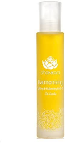 Shankara Harmonizing Body Oil - Uplifting Massage Oil for Hormonal Balance - Ayurvedic Daily Moisturizer - pH Balanced, Rich in Essential Oils, Vitamins, Antioxidants - For All Skin Types - 100 ml