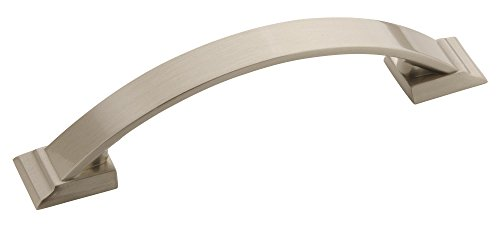 Amerock BP29355G10 Candler 3-3/4in CTC 96MM Satin Nickel Pull, 3-3/4 inch (96 Millimeter) Center-to-Center,