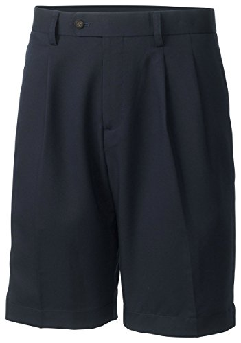 Cutter and Buck Men's Big and Tall Double Pleated Short, Navy Blue, 46B by Cutter & Buck